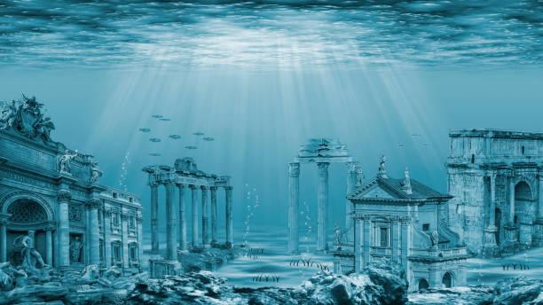 tàn tích của nền văn minh atlantis. tàn tích dưới nước - sunken city hình ảnh sẵn có, bức ảnh & hình ảnh trả phí bản quyền một lần