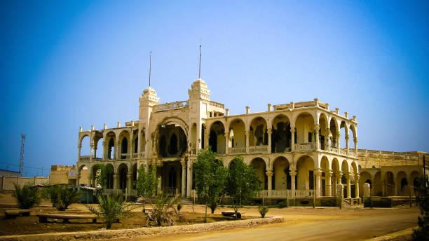 ruins of the banko italia in the center of massawa, eritrea - eritrea stock photos and pictures