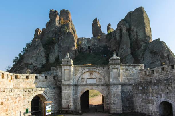 Kaleto olarak bilinen Belogradchik Kalesi Harabeleri, Bulgaristan stok fotoğrafı