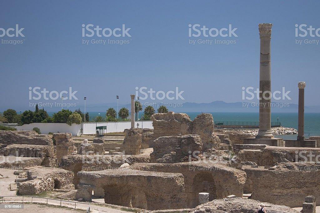Ruines de Carthage Tunisie photo libre de droits