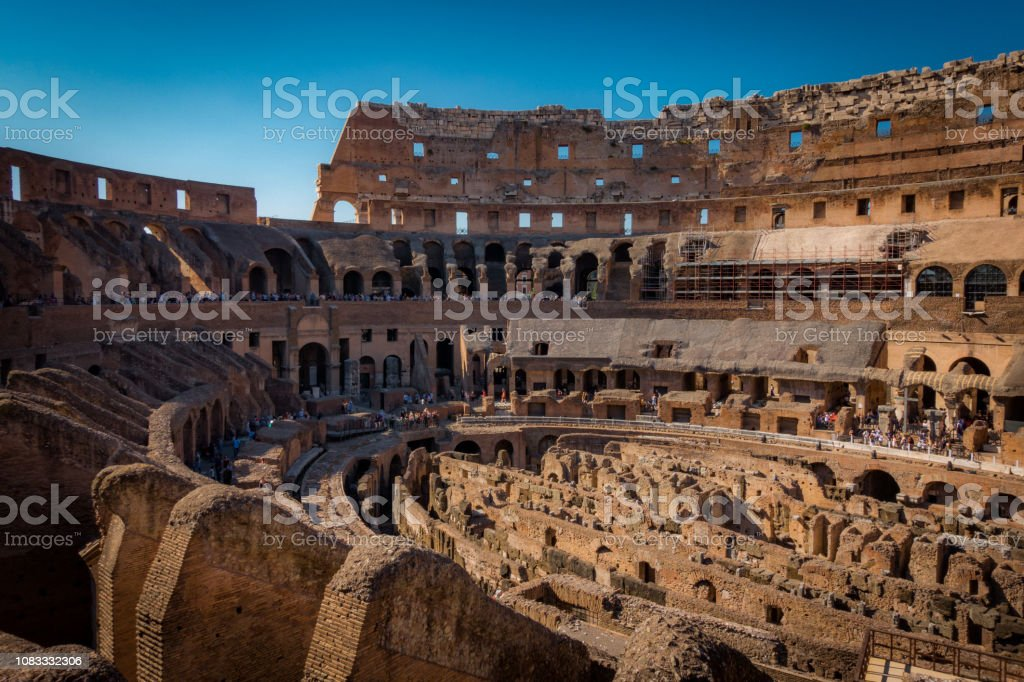 Ruins of the Colosseum stock photo