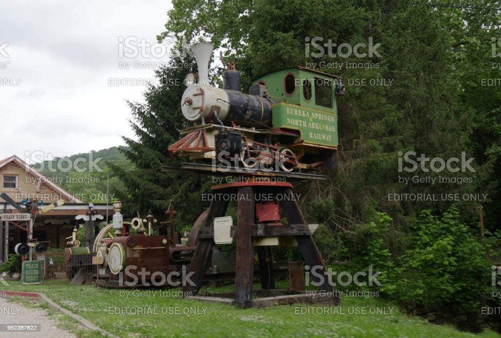 Ruins Of The Eureka Springs North Arkansas Railway Stock ...