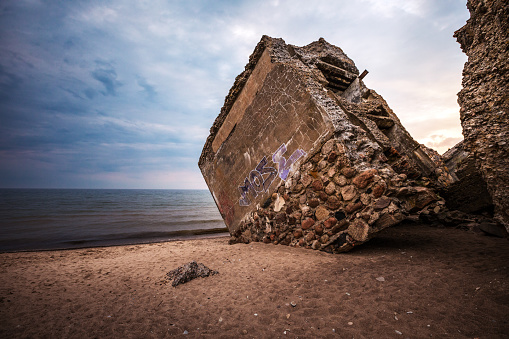 Ruins of the Northern fort of the Liepaja Fortress in Liepaja, Latvia