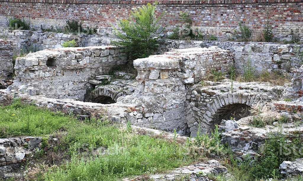 ruins of the old castle, Budapest city royalty-free stock photo