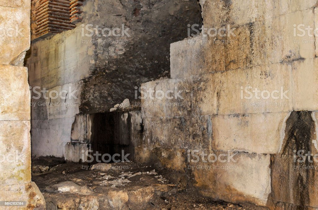 Ruins of the old dungeon. royalty-free stock photo