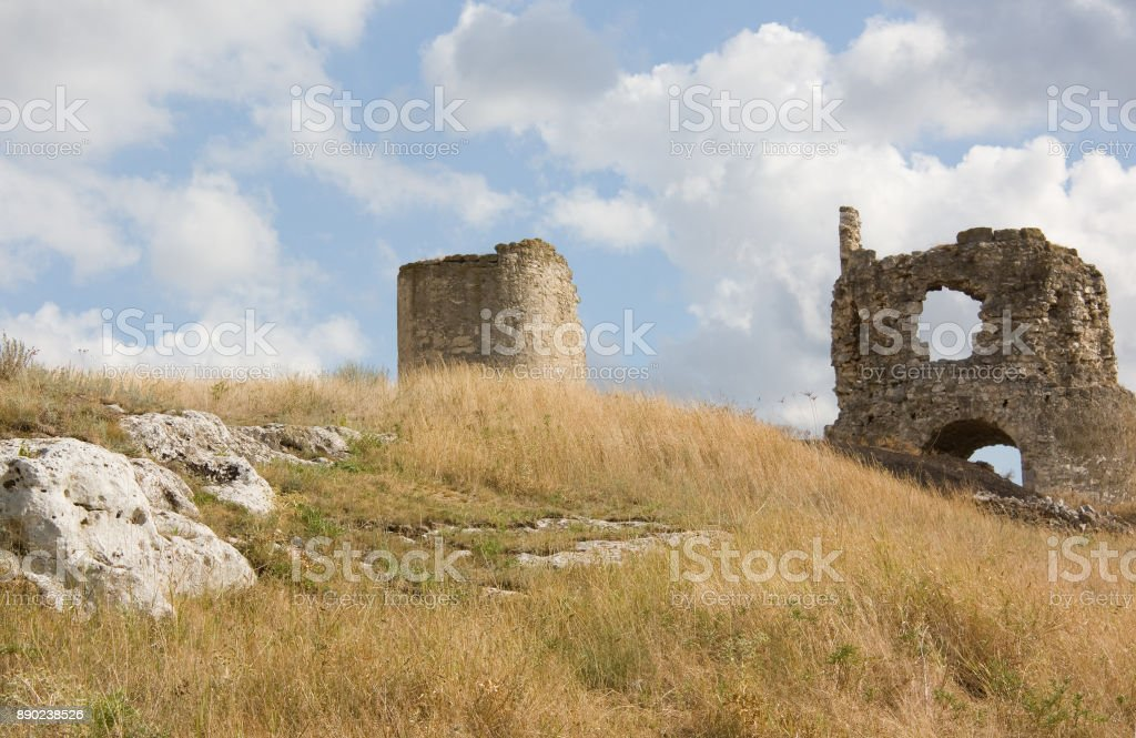 Ruins of the old fortress of Kalamita. Inkerman. Crimea, stock photo