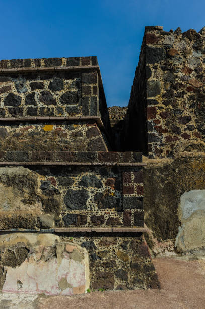 Ruins of the Pyramids of Pre-Columbian city Teotihuacan, Mexico stock photo