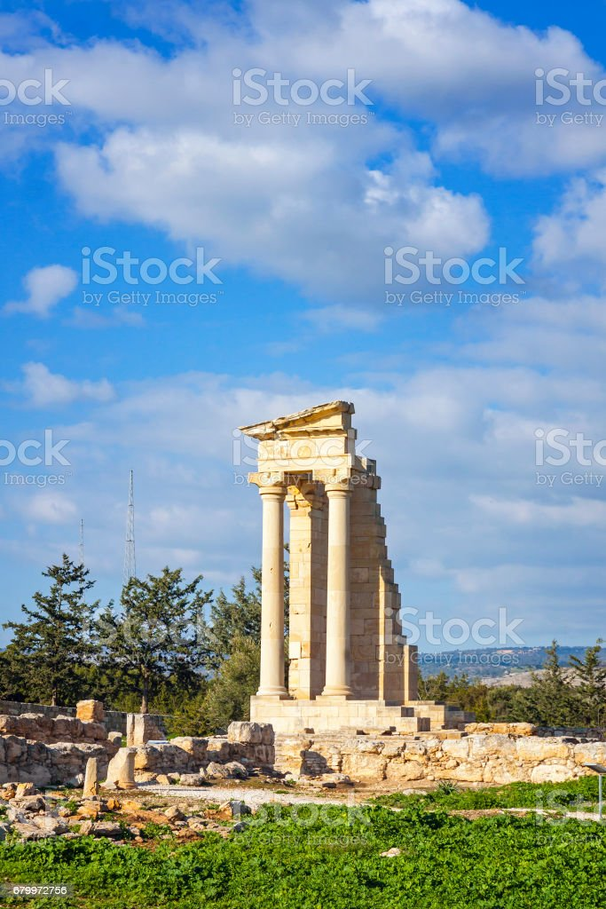 Ruins of the Sanctuary of Apollo Hylates, Cyprus stock photo