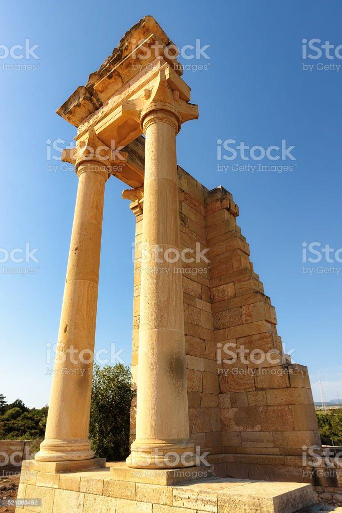 Ruins of the Sanctuary of Apollo Hylates near Limassol, Cyprus stock photo
