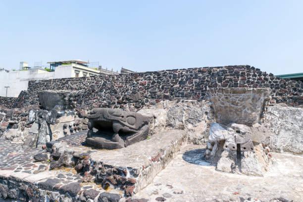 Ruínas do Templo Mayor, cidade do México, México. - foto de acervo
