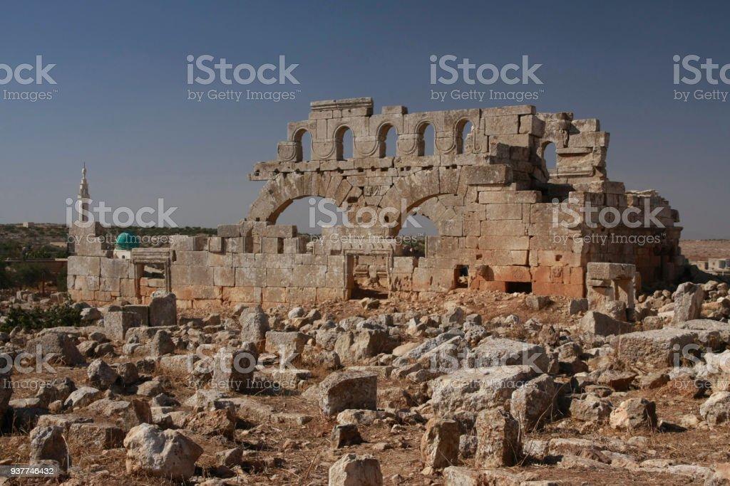 Ruines de la l'église du Nord de Brad, patrimoine mondial de l'UNESCO en Syrie - Photo