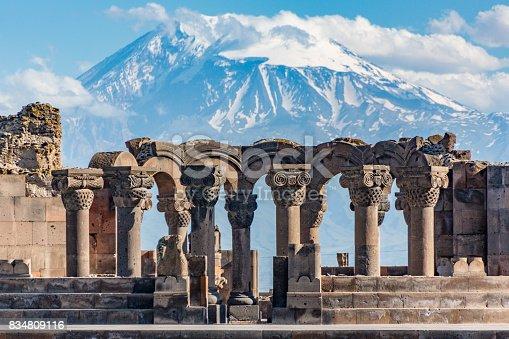 istock Ruins of the Zvartnos temple in Yerevan, Armenia 834809116