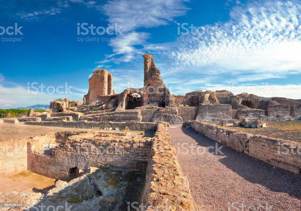 Ruins of Villa dei Quintili. Roman landscape upon Appia Way in Rome - foto stock