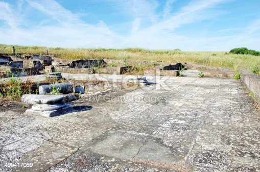 172477241 istock photo Ruins of villa Pisoes, Portugal 495417089
