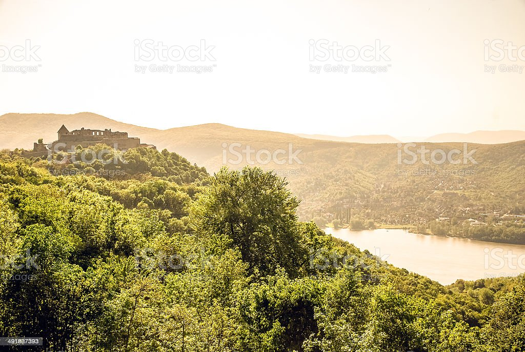 Ruins of Visegrad Castle royalty-free stock photo