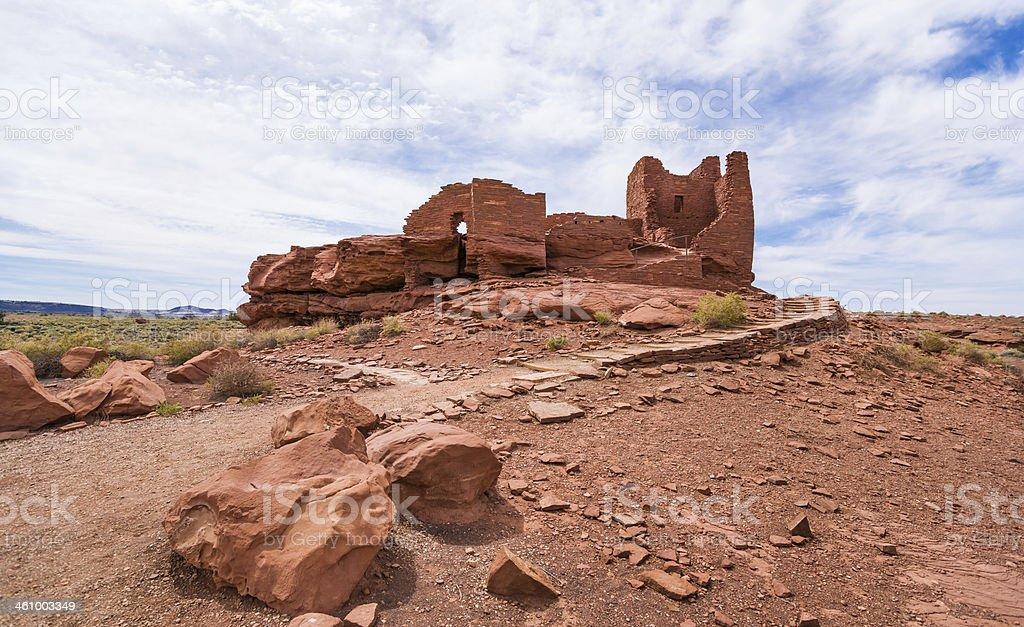 Ruins of Wukoki Pueblo in Wupatki National Monument, Arizona, USA stock photo