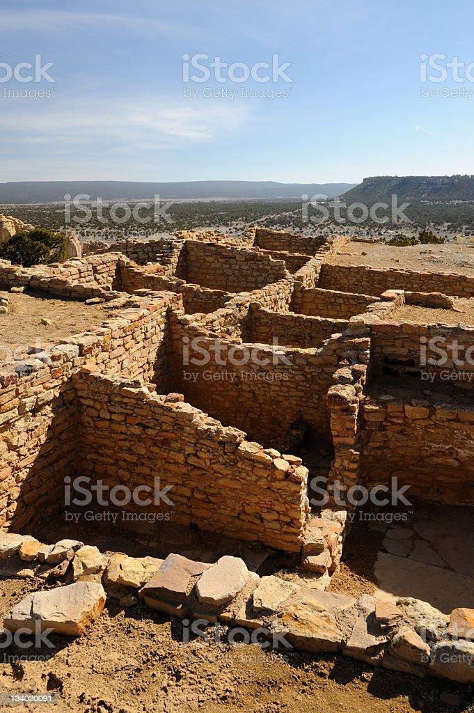 Ruins On Top of El Morro Cliffs stock photo
