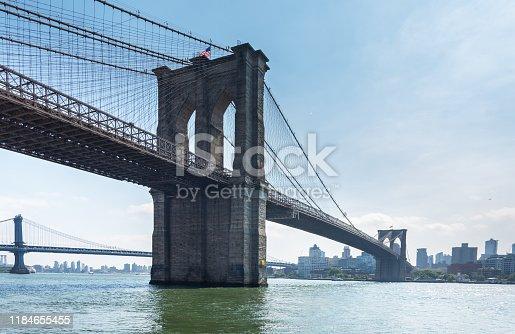 manhattan bridge seen from brooklyn