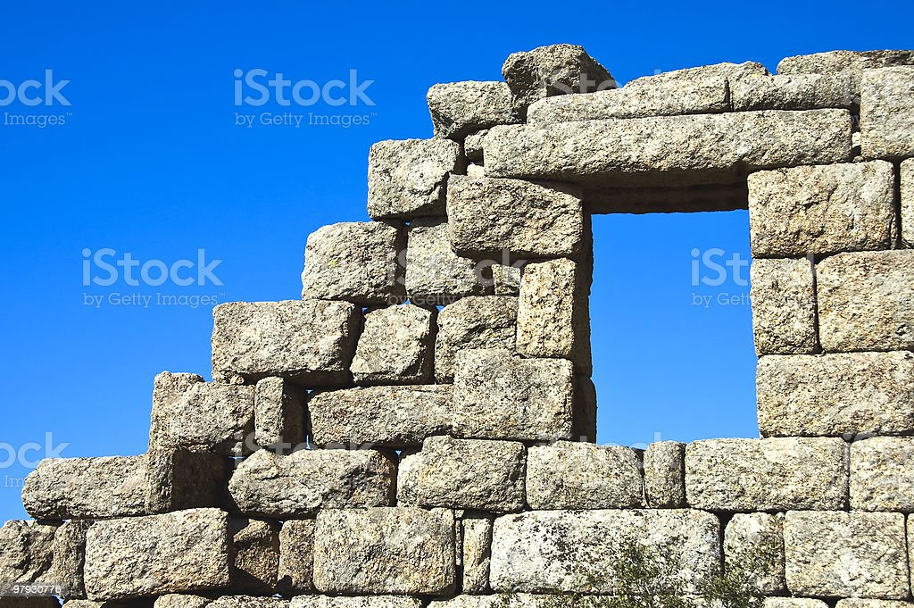 Ruins-and-Window royalty-free stock photo