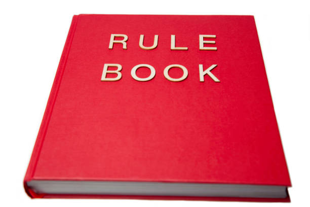 Rule Book stock photo