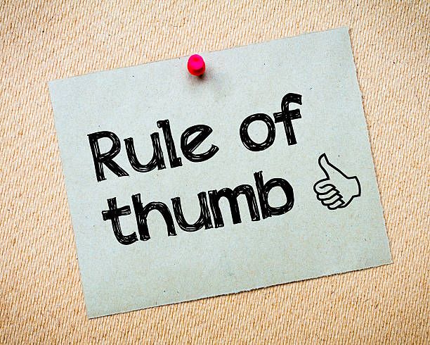 rule of thumb - ruler stock photos and pictures