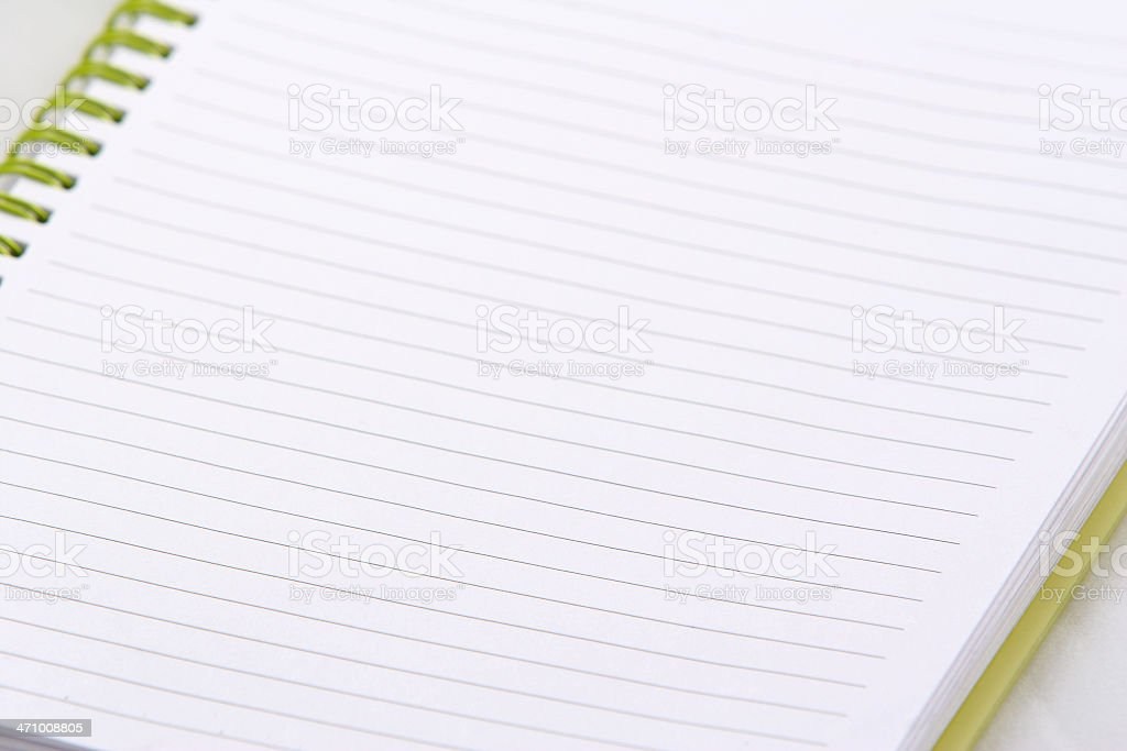 Ruled open notebook royalty-free stock photo