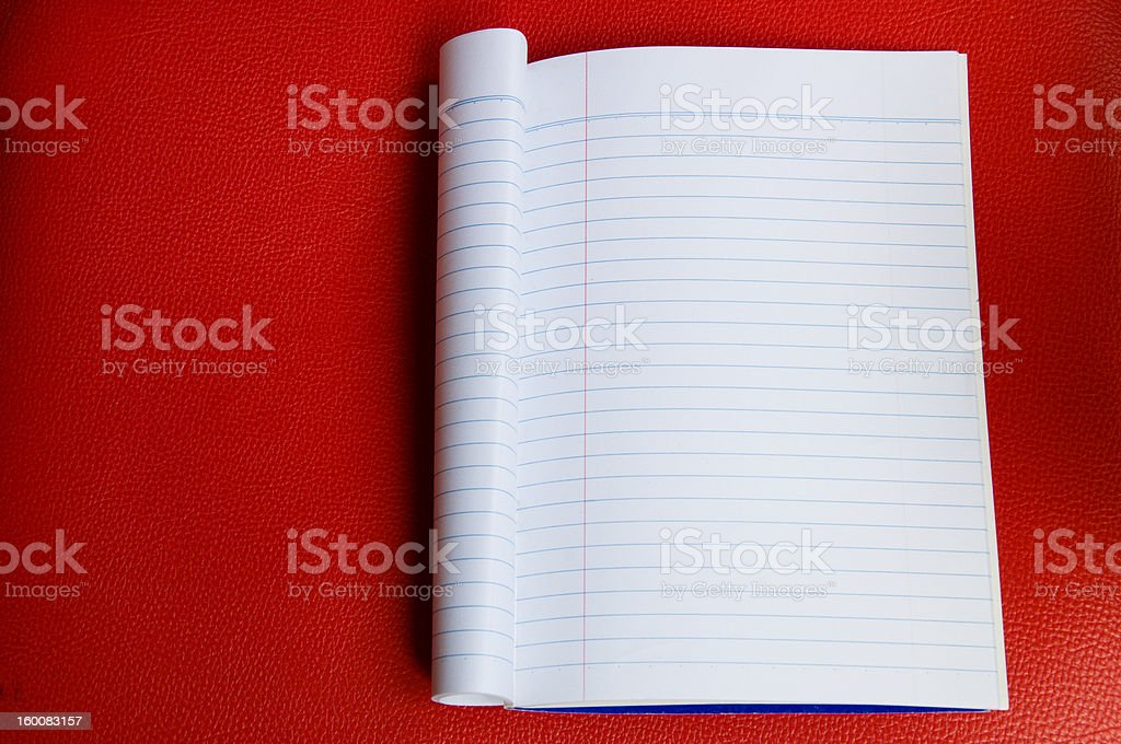 ruled paper blank template stock photo
