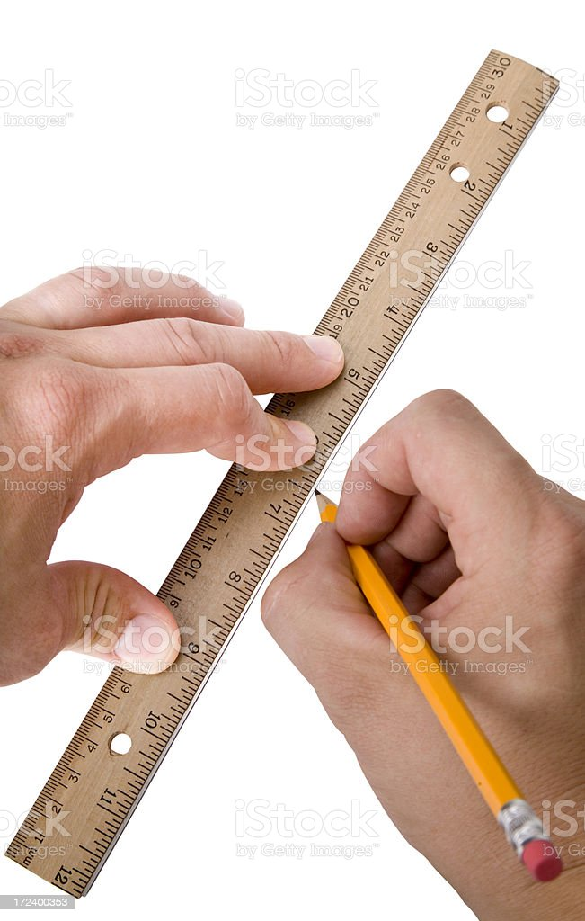 Ruler And Pencil royalty-free stock photo