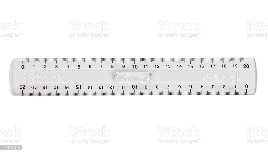 ruler isolated on a white background stock photo