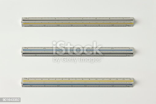 istock Ruler Isolated on White Background with Real Shadow and Text Space. 901643352