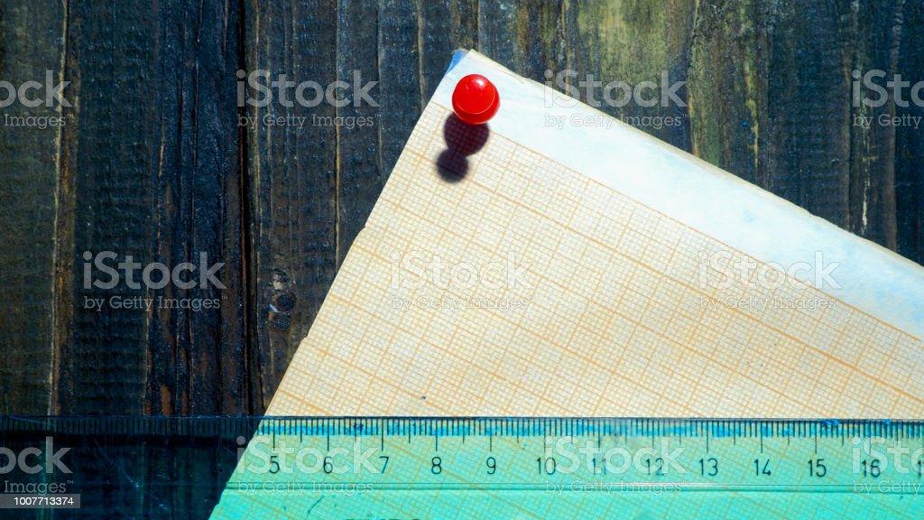 Ruler on graph paper – zdjęcie