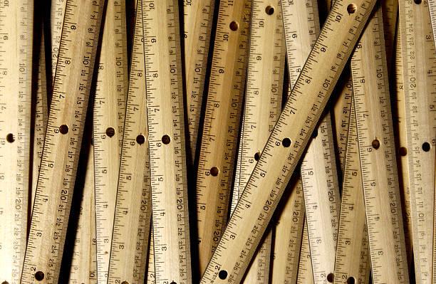 Ruler pattern stock photo