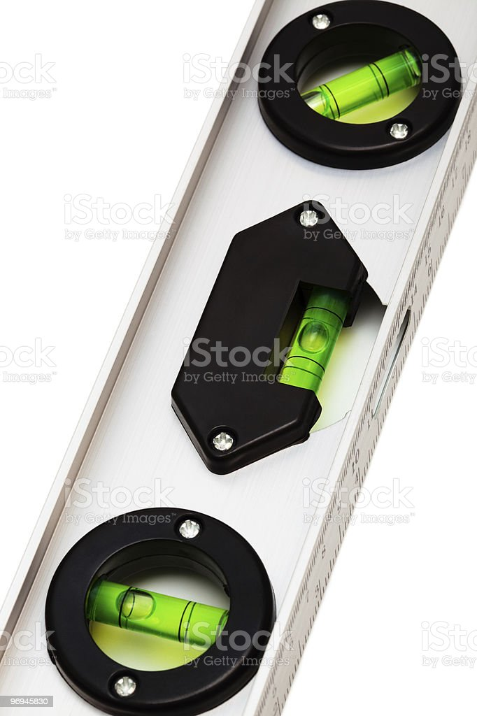 ruler with the level royalty-free stock photo