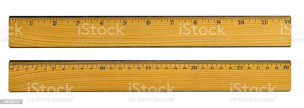 XXL Rulers royalty-free stock photo