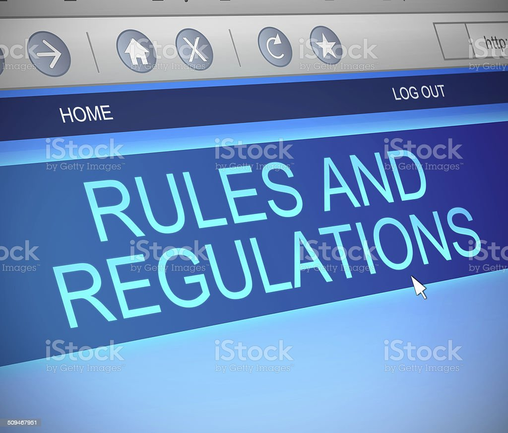 Rules and regulations concept. stock photo