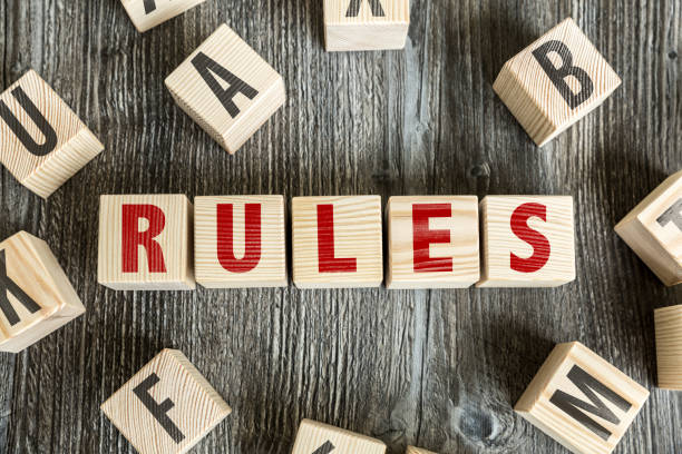 Rules stock photo
