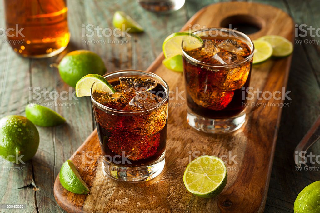 Rum and Cola Cuba Libre stock photo