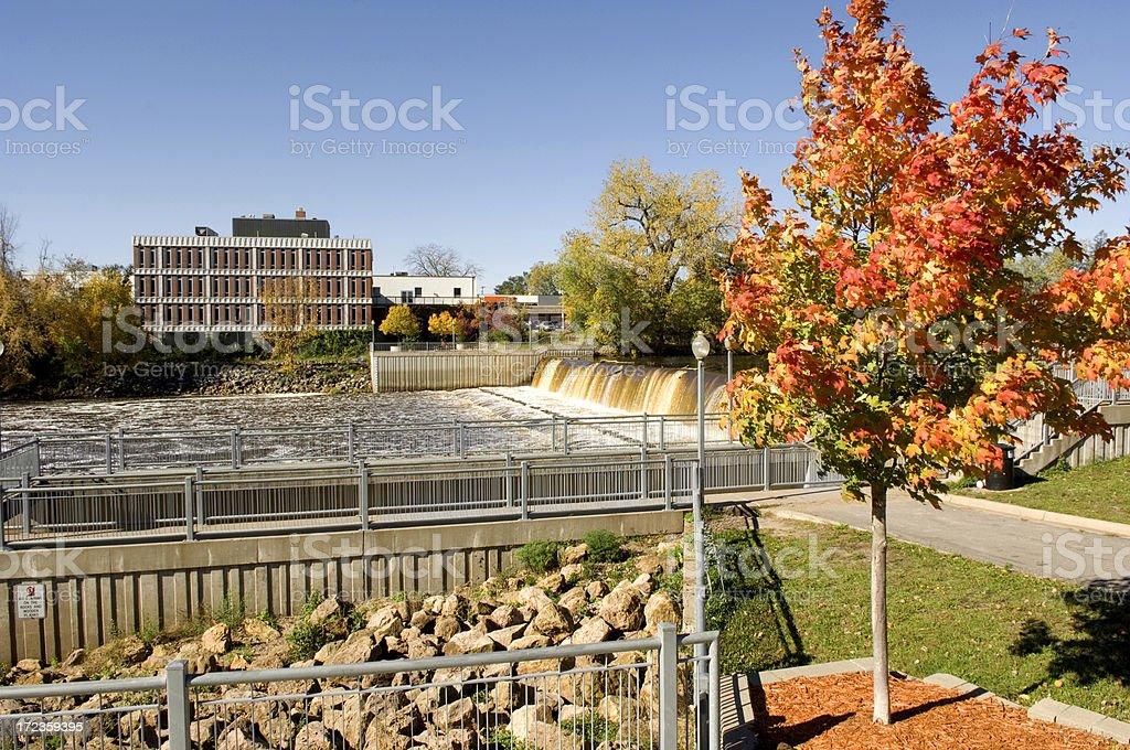Rum River, Anoka, Minnesota stock photo