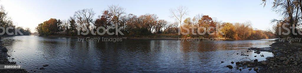 Rum River Panoramic stock photo
