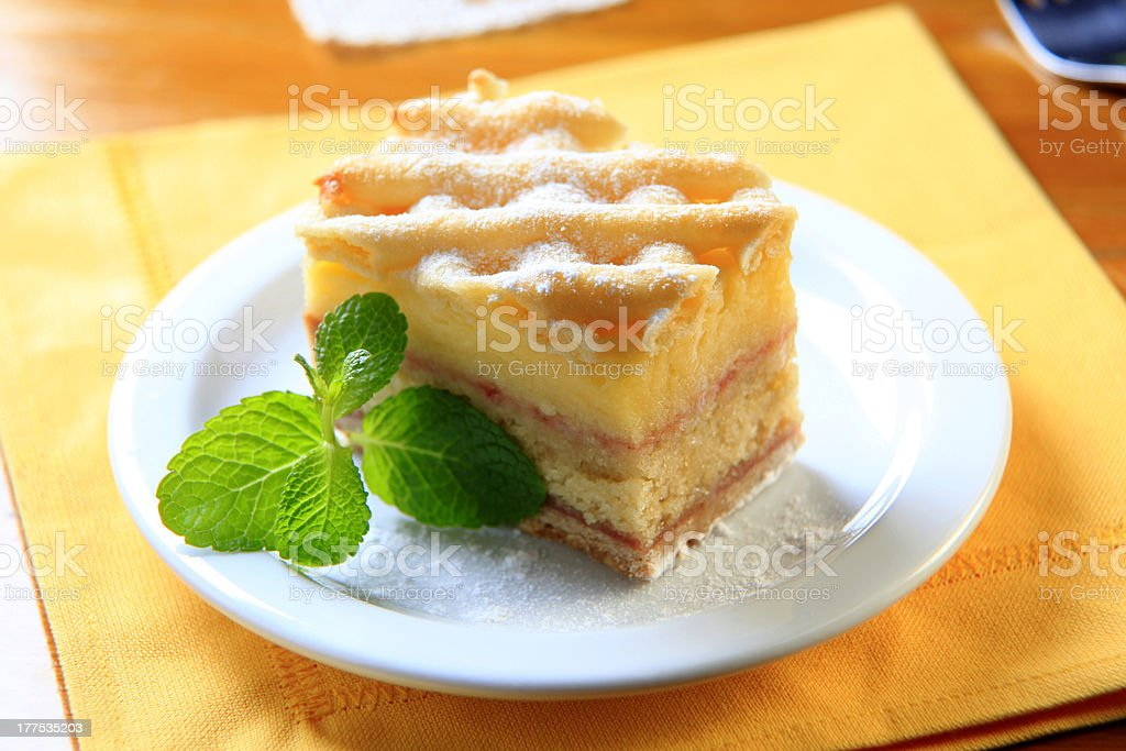 Rum soaked cake royalty-free stock photo