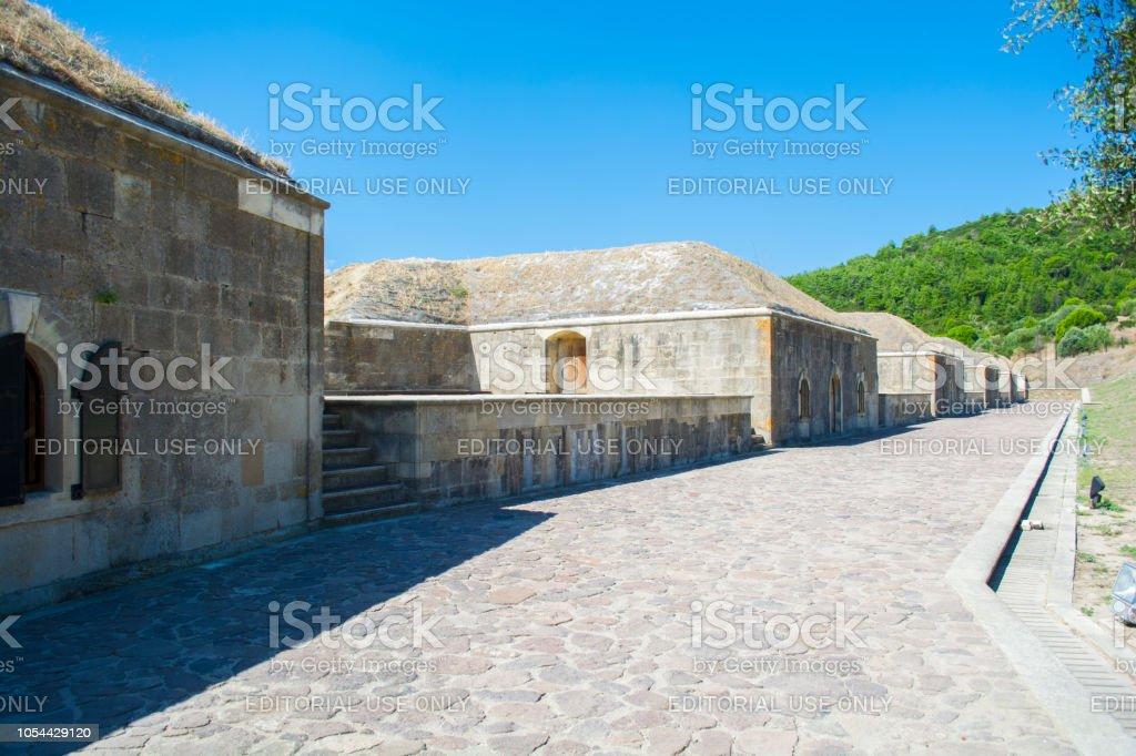 Fort de la mise en place de Rumeli Mecidiye (Tabya turque). Ce déploiement a frappé le cuirassé HMS Ocean du navire de la Marine royale britannique le 18 mars 1915 à gallipoli ww1. - Photo