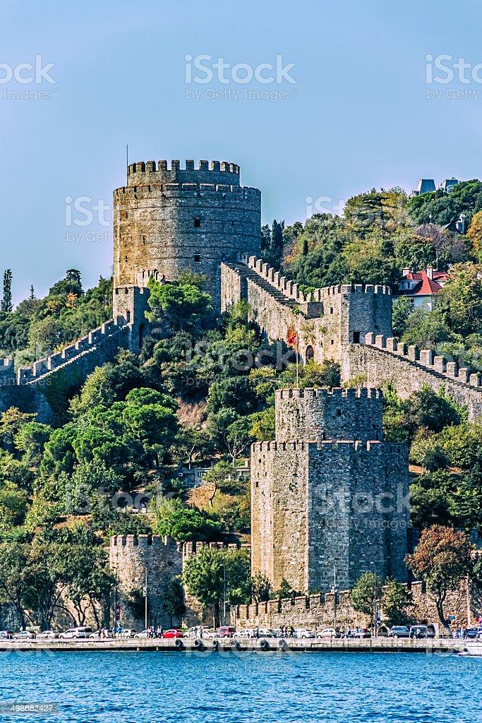 Rumelihisari castle stock photo