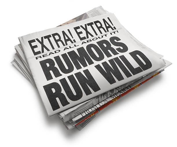Rumors Run Wild A newspaper with the headline