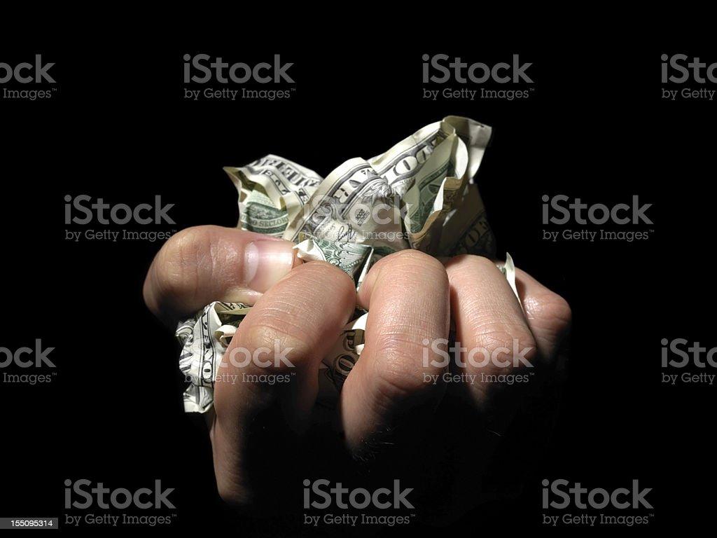 Rumpled bills royalty-free stock photo