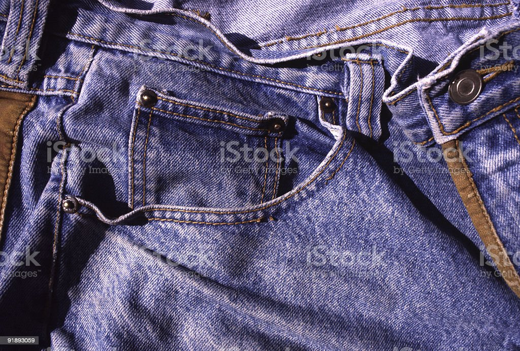 Rumpled Blue Jeans stock photo