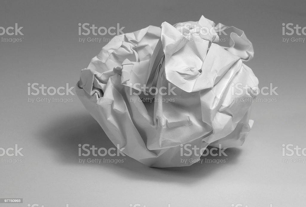rumpled paper ball stock photo