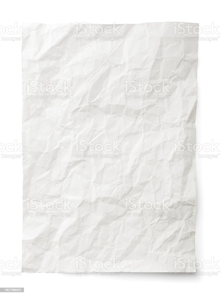Rumpled paper royalty-free stock photo
