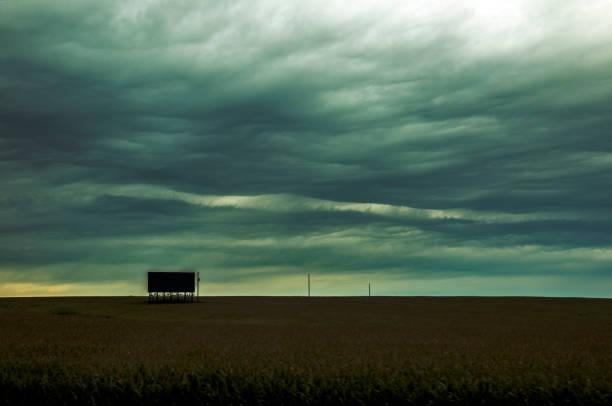Rumpled skies stock photo