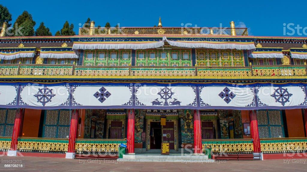 Rumtek Monastery in Sikkim stock photo