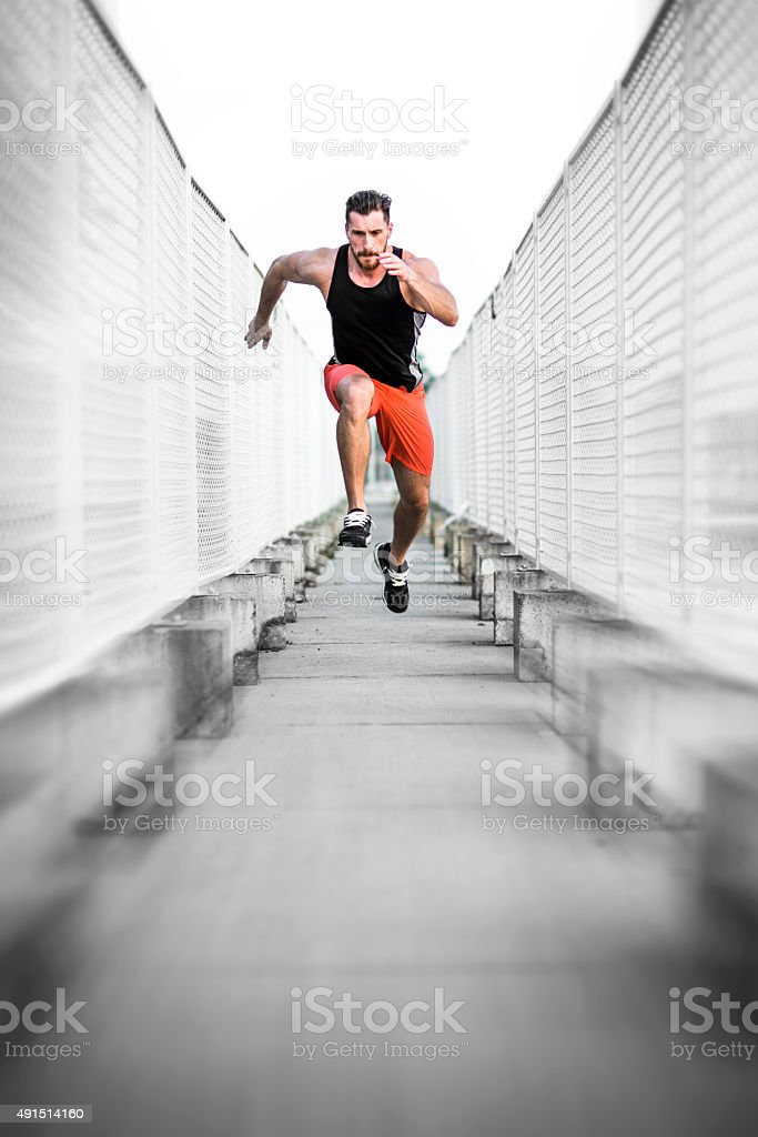Run. Fast. stock photo